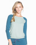 Longsleeve Raglan - Desert Sage and Sea Blue