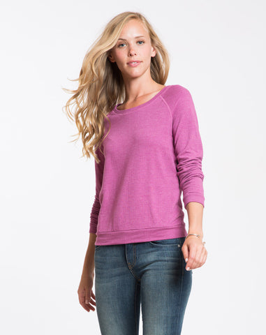 Double Knit Raglan - Raspberry
