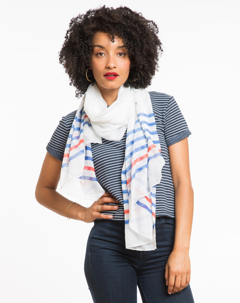 Olivia Striped Scarf