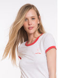 Alleghany Ringer Graphic Tee - White and Red