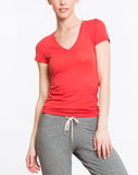 Slub V-Neck - Aurora Red