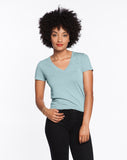 Slub V-Neck - Stone Blue
