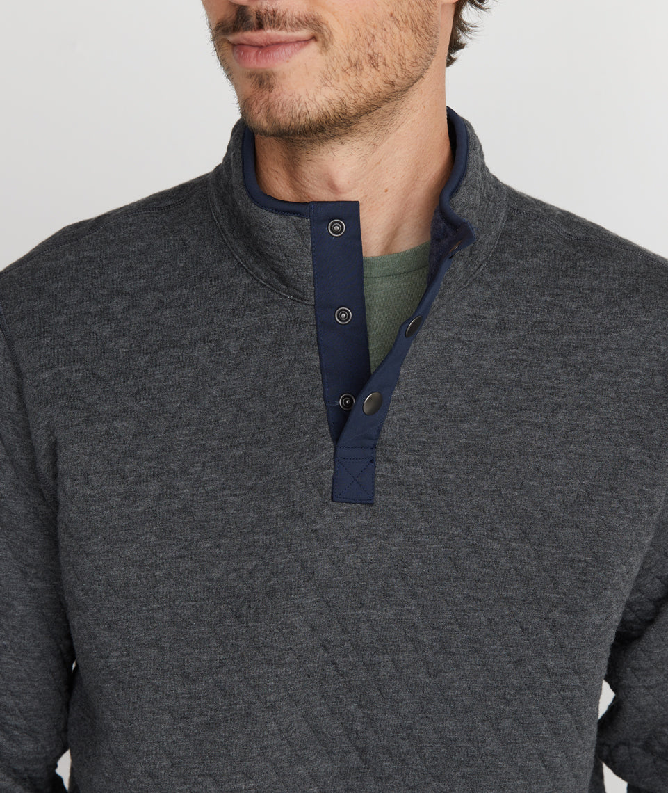Reversible Corbet in Navy Heather/Dark Heather Grey