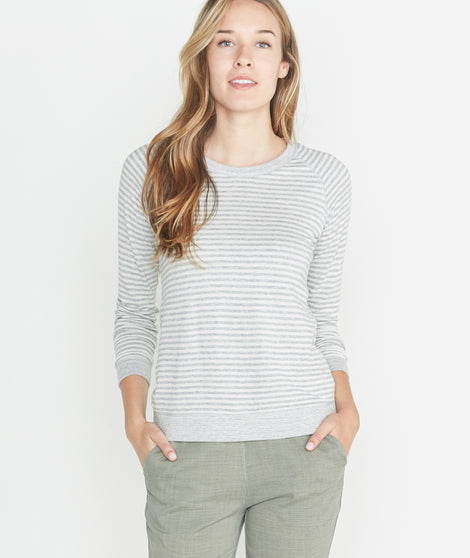 Radley Reversible Raglan in Heather Grey/Cream
