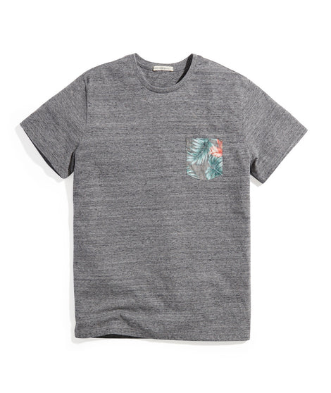 Signature Pocket Tee in Heather Grey Neps