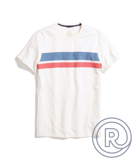 Re-Spun Chest Stripe Tee in Natural