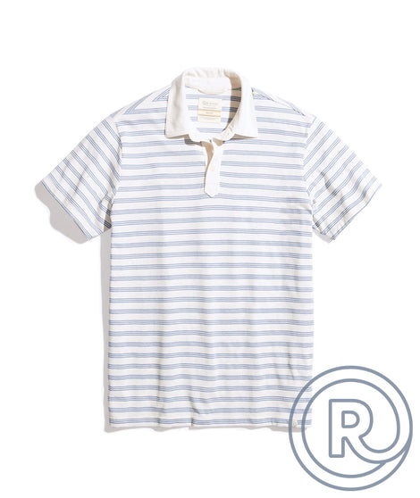 Re-Spun Polo in Natural/Blue Stripe