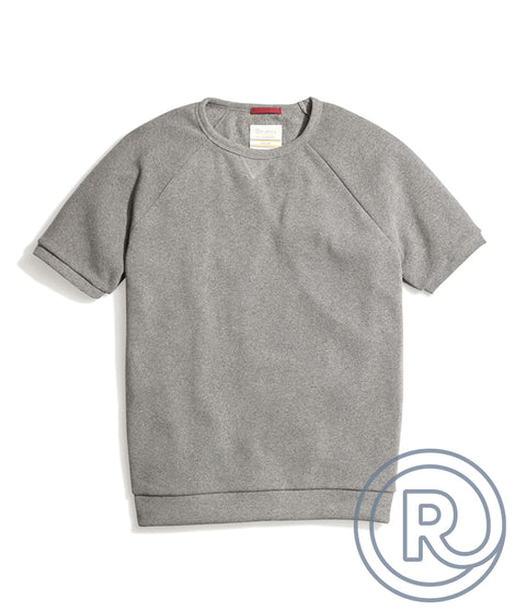 Re-Spun Athletic Crew in Heather Grey