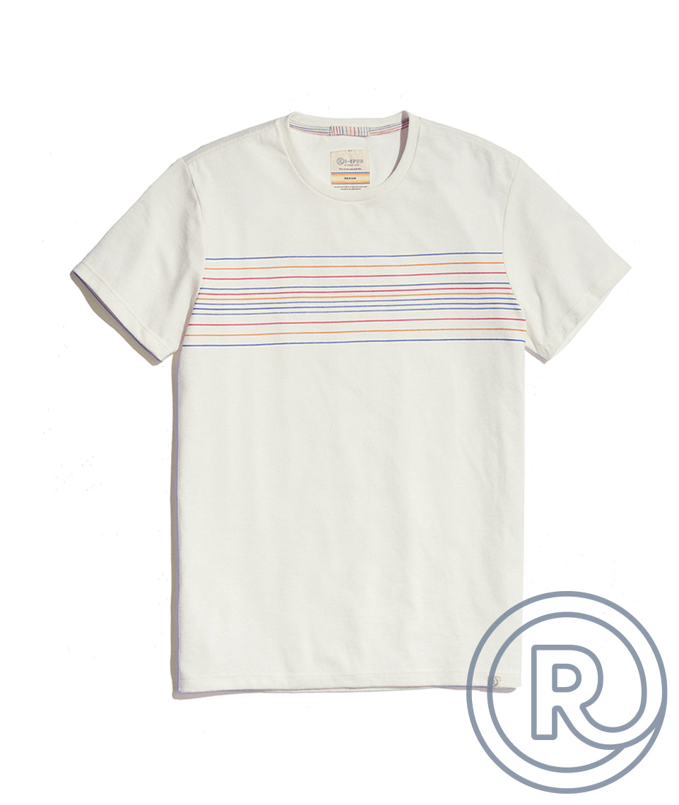 Re-Spun Stripe Graphic Tee