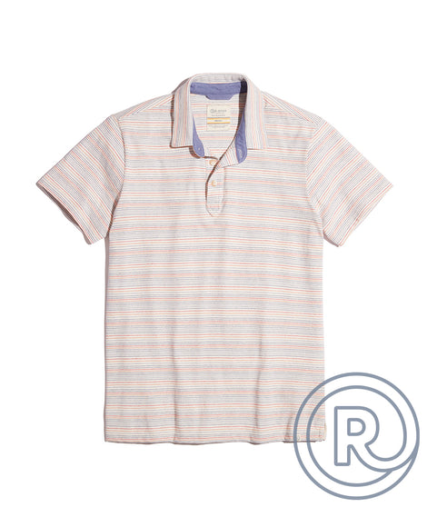 Re-Spun Polo in Multi Stripe