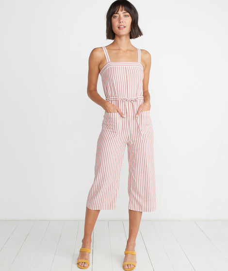 Rita Jumpsuit in Cherry Stripe