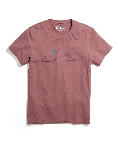 Sport Crew Tee in Cabernet Heather