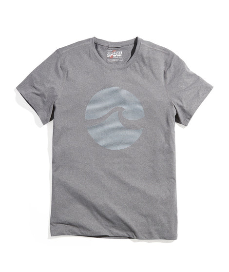 Sport Crew Graphic Tee in Anthracite Heather