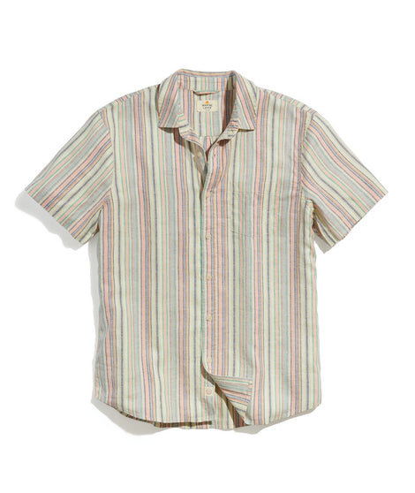 Hemp Tencel Shirt in Pop Multi Stripe