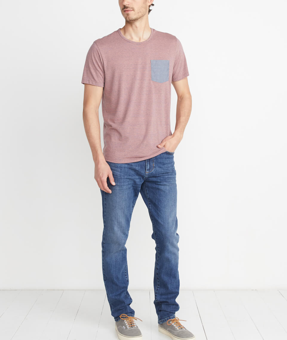 Straight Fit Jean in Medium Wash