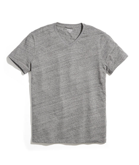 Signature V-Neck in Flax Grey