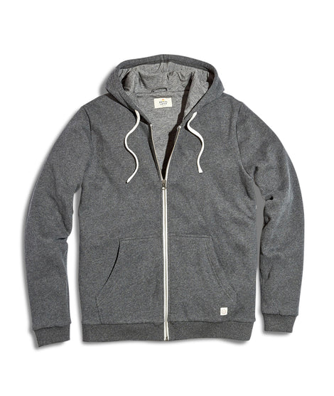 Signature Zip Lined Hoodie in Dark Charcoal