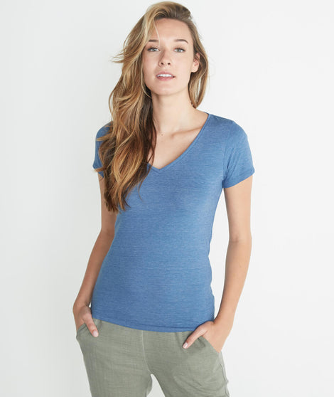 V-Neck in True Denim