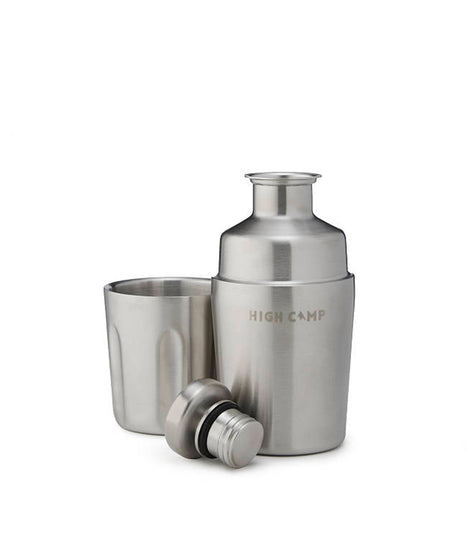 High Camp Halflight Flask 375ml - Stainless Steel