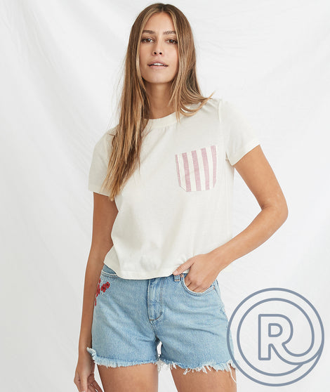 Re-Spun Contrast Pocket Tee
