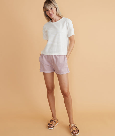Saturday Short in Burnished Lavender