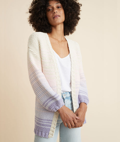 Karolina Cocoon Cardigan in Lilac Ombre
