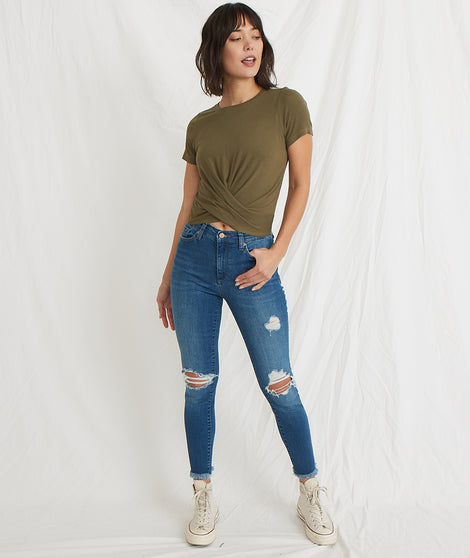 High Skinny Jean in Medium Wash