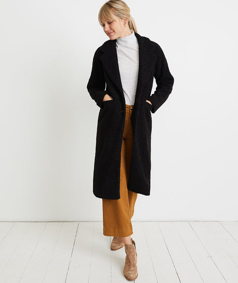 Lake Como Sherpa Coat in Black