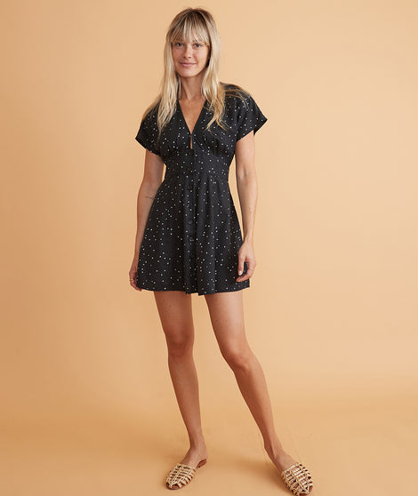 Camila Mini Dress in Eclipse Starry Print