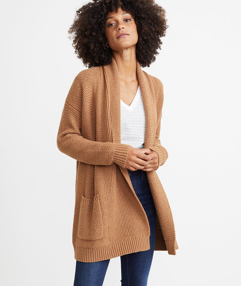 Brooklyn Cardigan in Cashew Heather