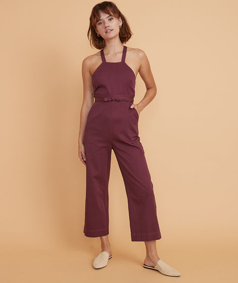 Tess Jumpsuit in Cabernet