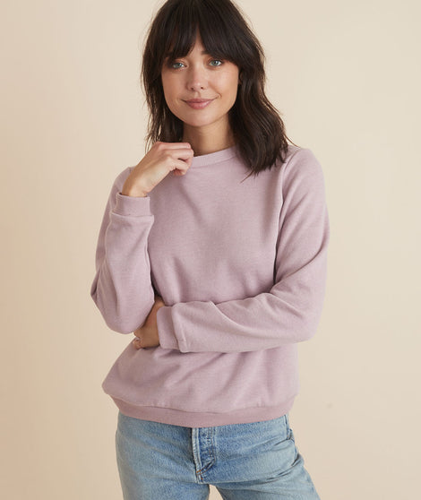 Classic Sweatshirt in Mauve Heather
