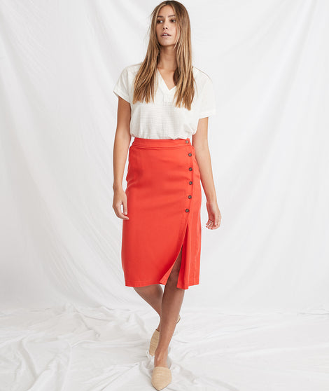 Cecille Skirt in Poppy Red