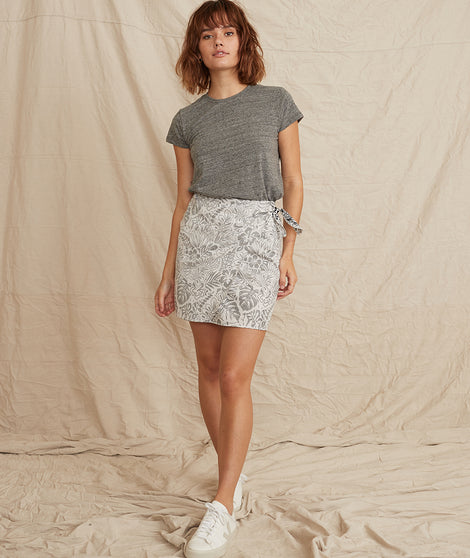 Monaco Wrap Skirt in Black and White Print