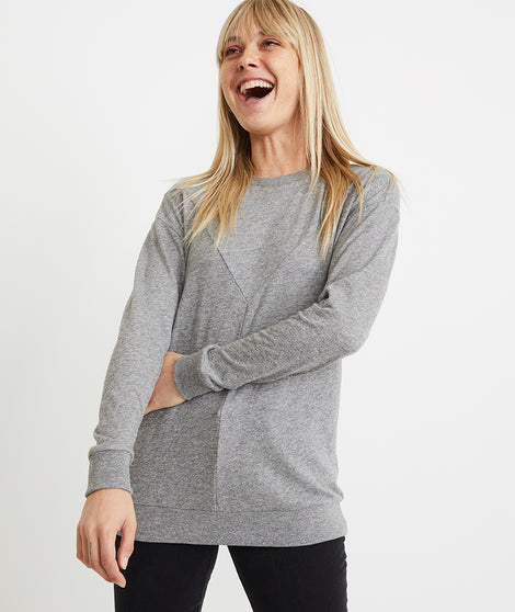 Lina Double Knit Crew