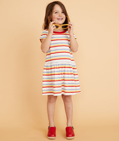 Mini T-Shirt Dress in Multi Stripe