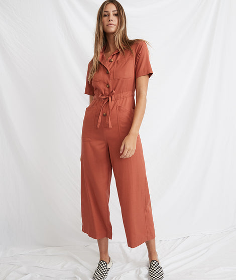 Joni Jumpsuit in Baked Clay