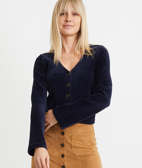 Aline Button Cardigan