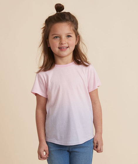 Mini Crew Tee in Pink Ombre