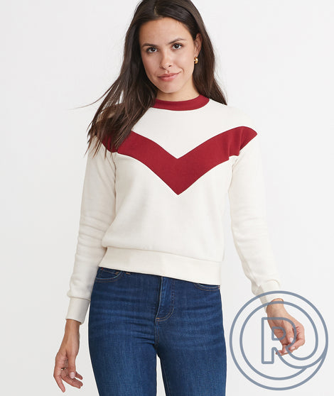 Re-Spun Chevron Crew Sweatshirt