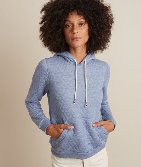 Corbet Hoodie in Light Blue Heather