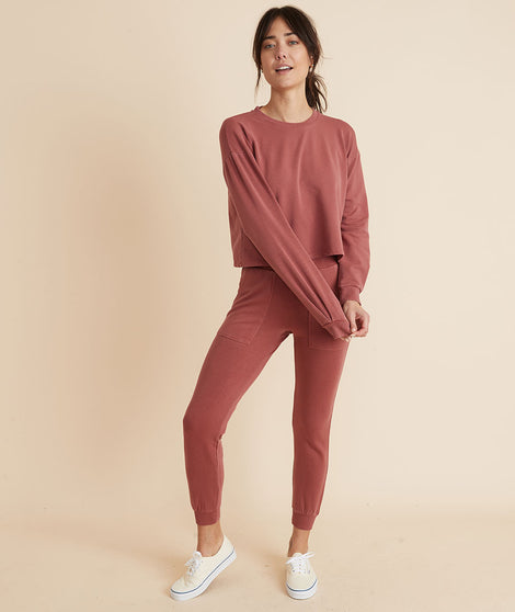 Sammi Jogger in Red Ochre