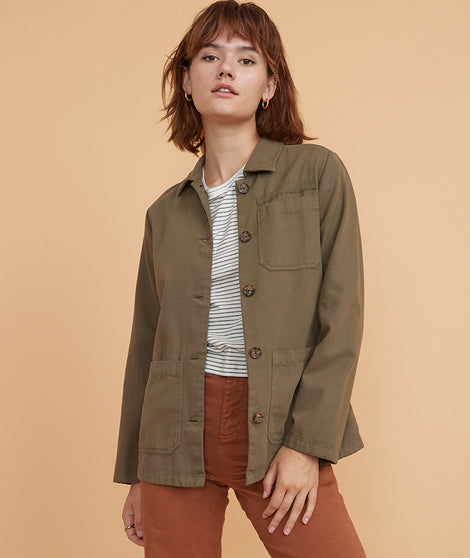 Gracey Chore Coat in Olive