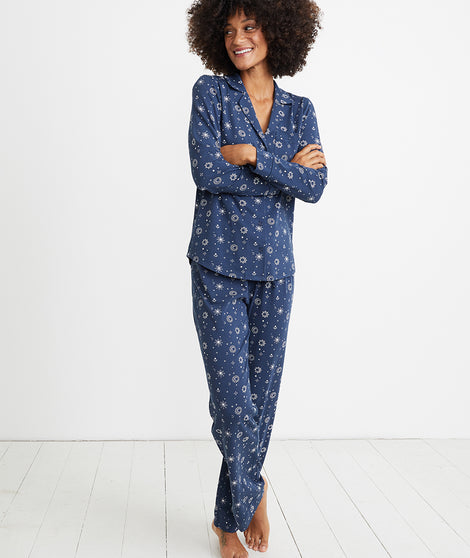 PJ Set in Black Iris Starry Night