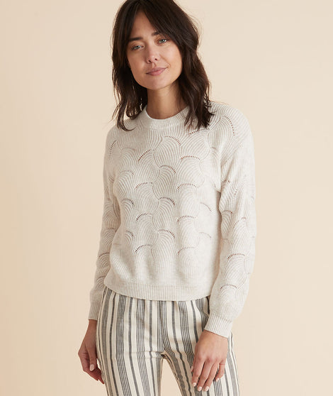 Olivia Crewneck Sweater in Oatmeal Heather