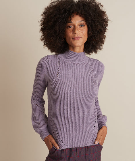 Erin Turtleneck Sweater in Purple Dreamer