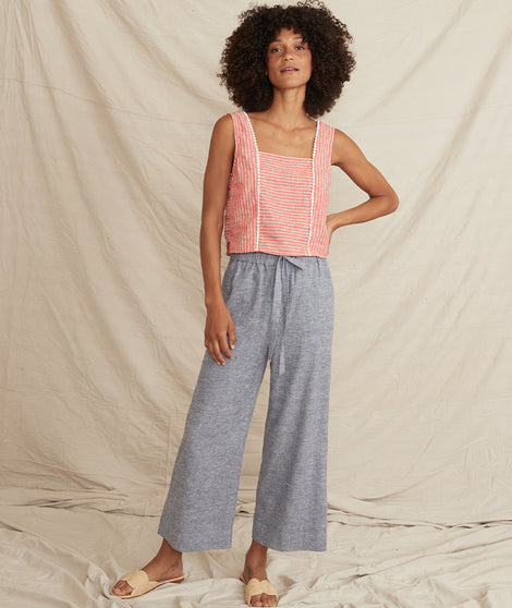 Aly Pant in Blue Heather