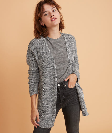 Catalina Cardigan in Anthracite Marl