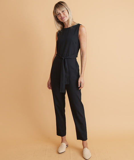 Eloise Belted Jumpsuit in Black