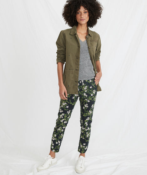 Allison Pant in Navy Floral Print